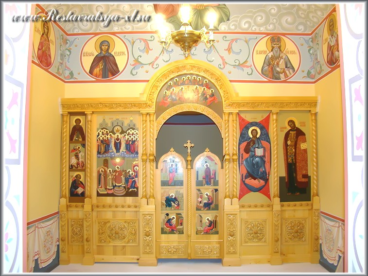 Иконостас, храм Покрова Пресвятой Богородицы, деревня Новая Быковка