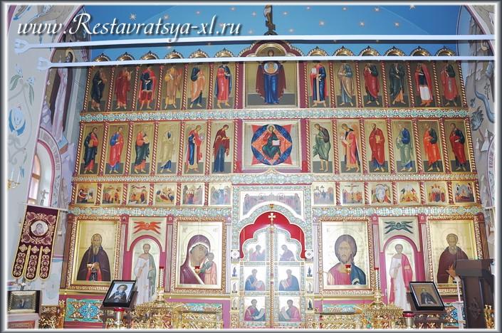 Иконостас, храм прп. Сергия Радонежского, Николо-Пешношский монастырь